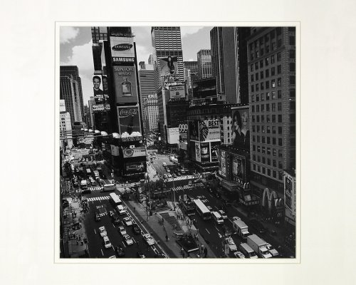 Afternoon in New York City, Times Square by Henri Silberman. Art Photo Print Poster (16 x - In York New Stores Square Time