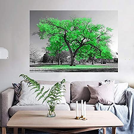 KWzEQ Imprimir en Lienzo Cartel Grande del árbol Verde en imágenes Decorativas para la decoración del hogar de la habitación70x105cmPintura sin Marco