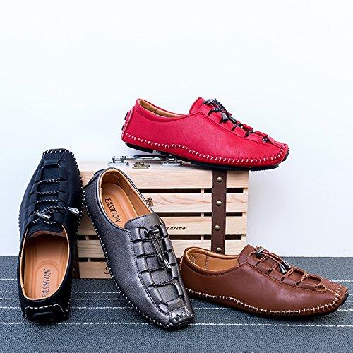 Conduite Chaussures Mixte Hommes Chaussures Lacets Plat Confortable Fond Décontractées Marche Chaussures élastiques Noir de Mocassins Pois xS0Rw0gzq