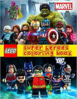 Amazon Fr Lego Super Heroes Coloring Book Dc Marvel Lego
