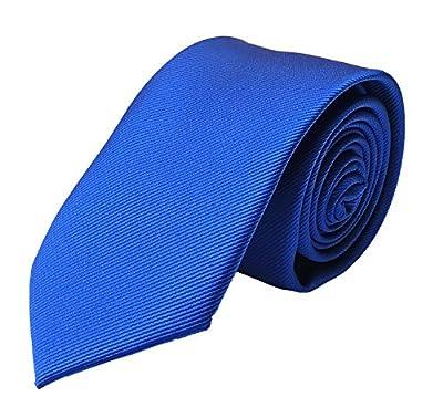 Ctskyte Men's Solid Color Skinny Ties Repp Smooth Formal Wedding Grooms Neckties