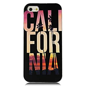 Super 5s Case, iPhone 5&5s Case - MOLLYCOOCLE Fashion Style Colorful Painted California Pattern TPU Soft Cover Case for iPhone 5&5s(California)