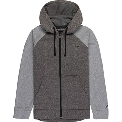 Free Country Men's Snow Fleece Hoodie, Deep Charcoal, XL