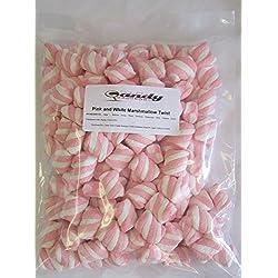 Pink & White Marshmallow Twist 1 Pound Bag
