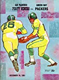 San Francisco 49ers vs Green Bay Packers Football Program (December 10, 1961) ** Kezar Stadium San Francisco** (World Champions)