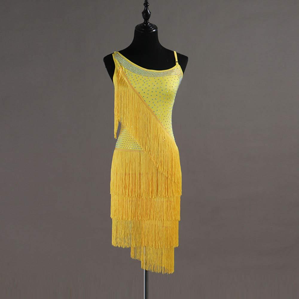 激安な ラテンダンスドレス女性のパフォーマンススパンデックスタッセル結晶ラインストーンノースリーブナチュラルドレス B07PCKH28Y B07PCKH28Y XXL|Yellow XXL Yellow Yellow XXL, アスケチョウ:9e5ed3be --- a0267596.xsph.ru