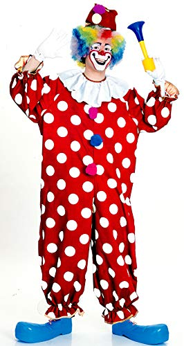 Disfraz Payaso Malo Halloween (Rubie's Haunted House Collection Dotted Clown Costume, Red, One)
