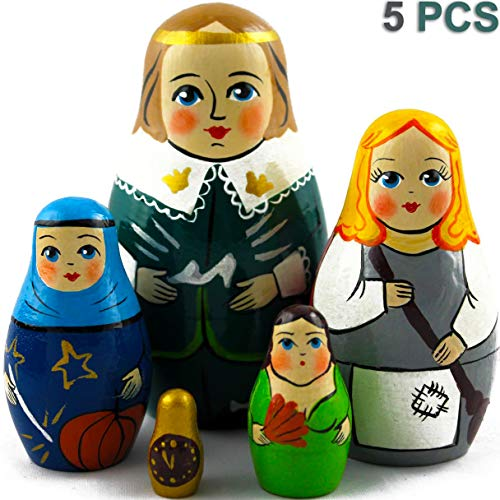 MATRYOSHKA&HANDICRAFT Nesting Dolls The Famous Fairy Tale of Cinderella Set 5 pcs