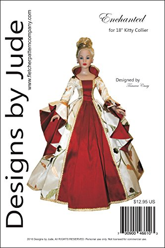 """Enchanted Court Doll Clothes Sewing Pattern for 18"""" Kitty Collier Dolls Tonner"""