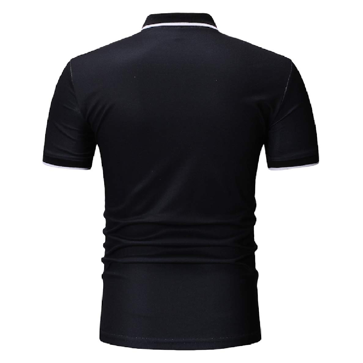 Winwinus Men Fashion Lapel T-Shirts Short-Sleeve Letter Printed Polo Shirt