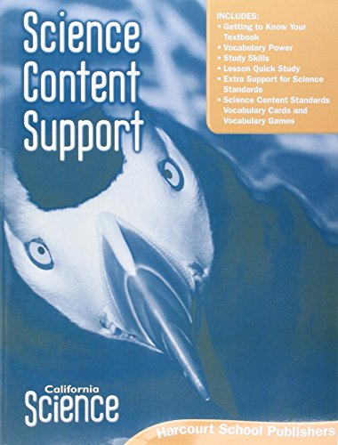 Harcourt School Publishers Science: Science Content Support Student Edition Science 08 Grade 3