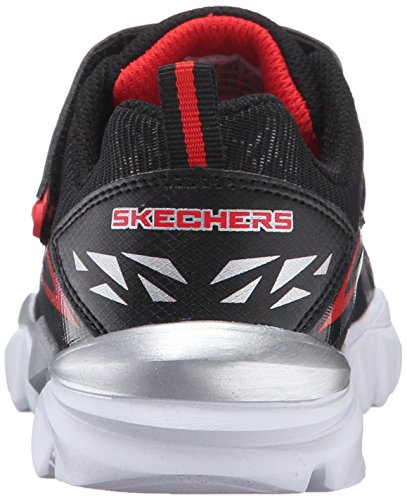 Skechers Kids Electronz Blazar Sneaker (Little Kid/Big Kid) Black/Red
