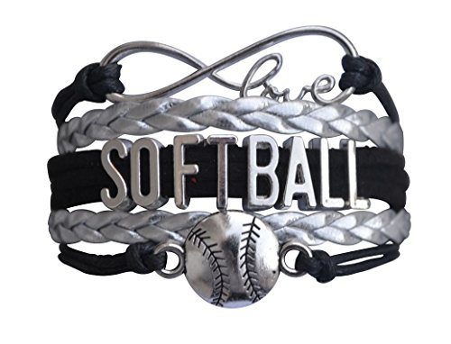 - Infinity Collection Softball Bracelet- Softball Jewelry - (12 Styles) Perfect Softball Player, Team and Coaches Gifts