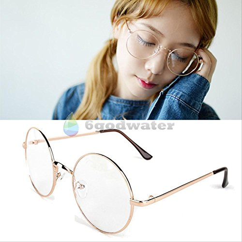 [2016 most popular glasses Cosplay Glasses Spectacles Round Eyewear Pale Gold] (Dobby Harry Potter Costumes)