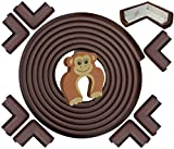 Tools & Hardware : Edge & Corner Guards Set - EXTRA LONG 20.4ft Coverage Incl 8 Pre-Taped Corners | COFFEE Brown | Child Safety Baby Proofing | Table Sharp Edges Protector, Furniture Edge Corner Bumper Guard