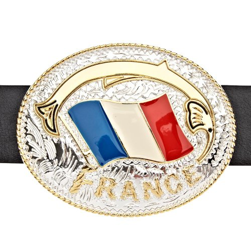 Iced Out Bling Ceinture - FRANCE or / argent