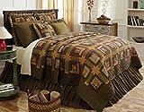 VHC Brands 10739 Tea Cabin King Quilt 97 x 110