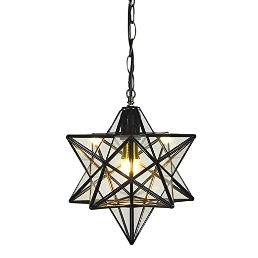 Clear glass star pendant light retro style lamp shade chandelier clear glass star pendant light retro style lamp shade chandelier ceiling hanging droplight for cafe loft aloadofball Image collections