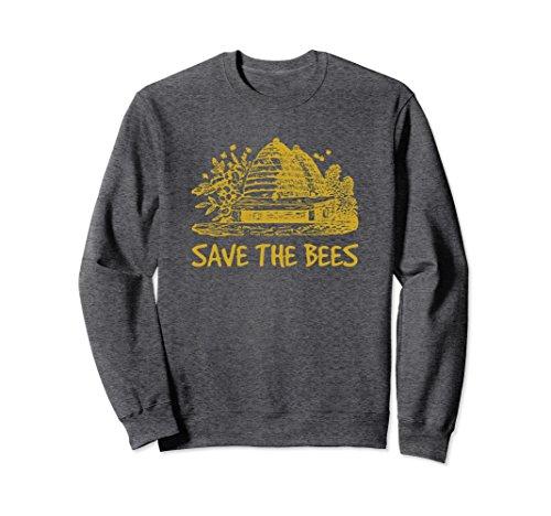 Unisex Save the Bees Shirt Nature Sweatshirt Bee Keeper Gifts Medium Dark - Apparel Save Bees The