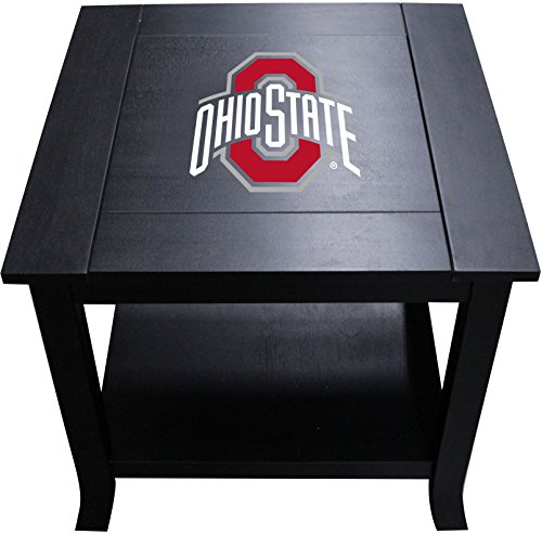 Imperial Officially Licensed NCAA Furniture: Hardwood Side/End Table, Ohio State Buckeyes