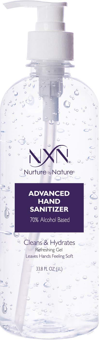 NxN Beauty Hand Sanitizer Gel, 70% Alcohol, Original 33.8 FL OZ (1L)