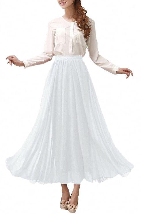Falda larga de gasa estilo retro para vestir.