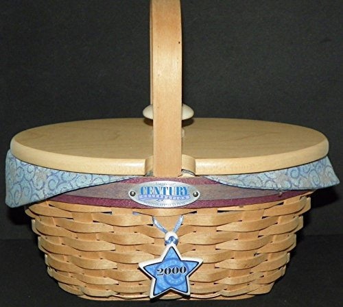 Longaberger Hostess*2000 Appreciation Century Star Celebration Set includes Basket, Liner, Protector , Handle, Tie-on, and (Longaberger Basket Homestead)