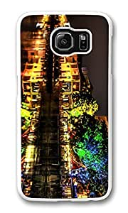Galaxy S6 Case, S6 Case,Colorful Night Lights Hdr Shock Absorption Bumper Case Protective Slim Fit Hard PC Cover for Samsung Galaxy S6 White