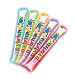 Brite Boltz - Happy Birthday Inflatable Light Up Bang Bang Spirit Sticks - Sporting Event and Party Cheering Sticks 25 Pack