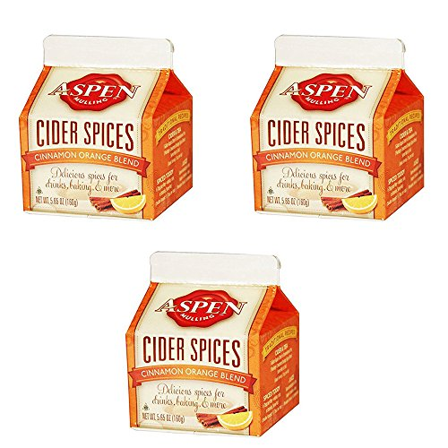 Aspen Mulling Cider Spice - Cinammon Orange Blend - 5.65 oz Carton - Set of 3
