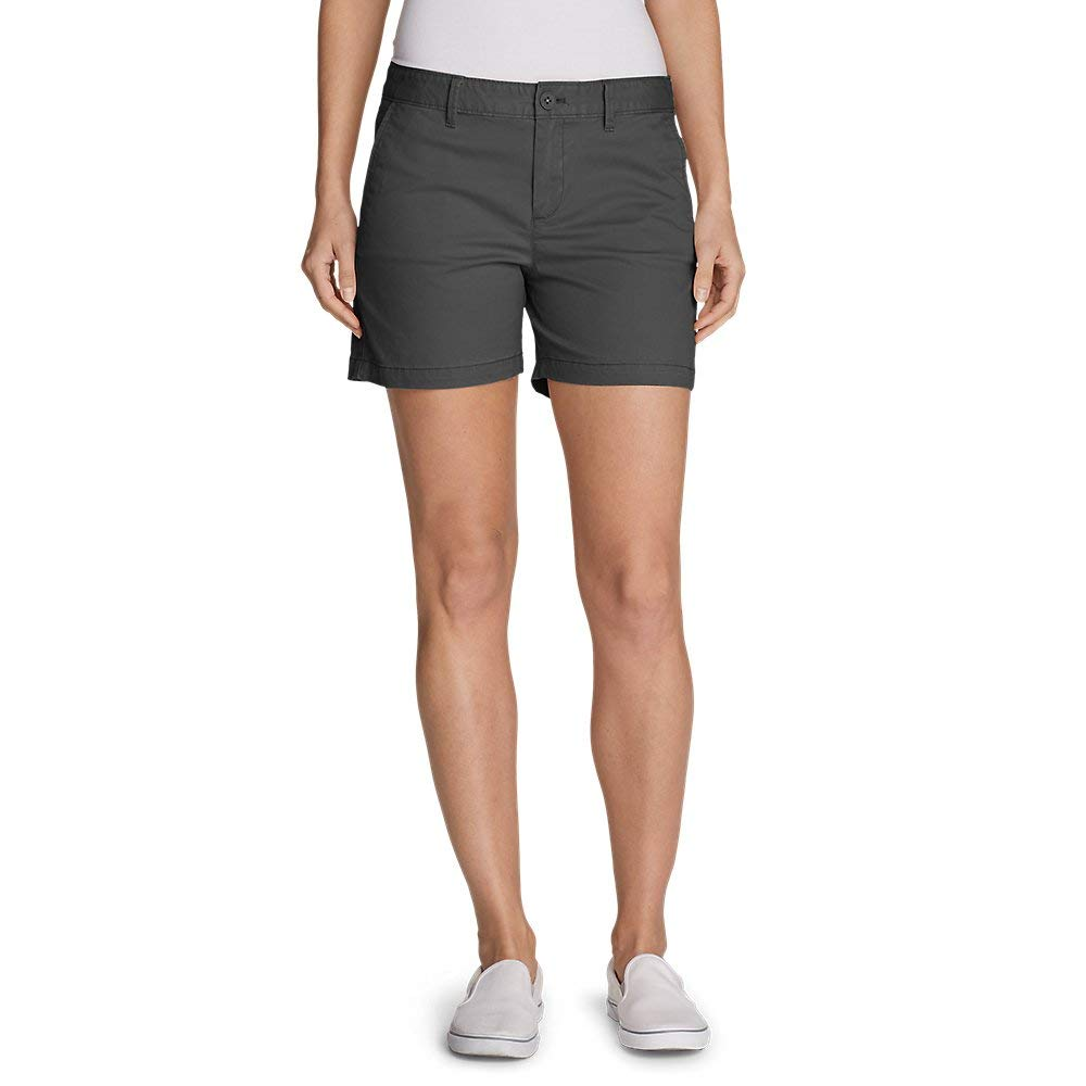 Eddie Bauer Women's Willit Stretch Legend Wash Shorts - 5'', Carbon Petite 12 by Eddie Bauer