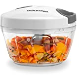 Gourmia GMS9280 Mini Slicer Pull String Manual Food Processor...