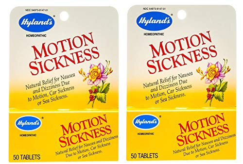 Hylands Motion Sickness 50 Tabs - 2 Packs of Hyland's Motion Sickness - 50 Tablets by Hyland's Homeopathic