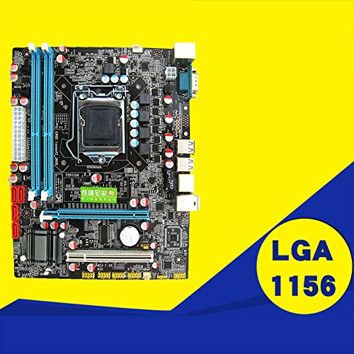 ETbotu P55 Motherboard CPU LGA 1156 Pin 2xDDR3 1xRJ45H55 Desktop Motherboard with USB Port