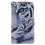 Galaxy Core LTE Case, Galaxy Avant Case, Chinstyle Samsung Galaxy Core LTE G386W G386F / Galaxy Avant Case Horizontal Wallet Case Magnetic Closure Cool Tiger Pattern Flip Cover
