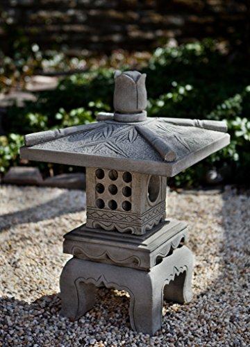 Campania International OR-141-GS Bamboo Pagoda Statuary, Grey Stone (Bamboo Pagoda)