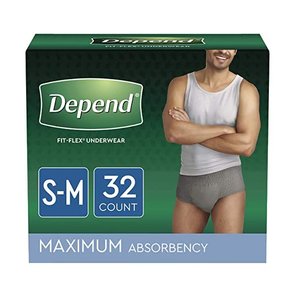 Depend for Men Incontinence Underwear, Maximum Absorbency