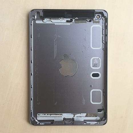 For iPad Mini 2 2nd Gen 4G Cellular WiFi A1490 Back Cover Rear Housing Gray