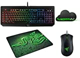 Razer BlackWidow Full Chroma Clicky Mechanical Gaming Keyboard + Razer DeathAdder Chroma Ergonomic 10,000 DPI Sensor + Razer Goliathus Medium SPEED Soft Gaming Mouse + Razer Synapse 2.0 Bundle