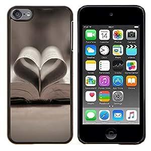 YiPhone /// Prima de resorte delgada de la cubierta del caso de Shell Armor - Amor libro Amor - Apple iPod Touch 6 6th Touch6