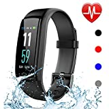 Qiufeng Fitness Tracker,Activity Tracker Smart Watch Health Bracelet Waterproof Wristband with Heart Rate Blood Pressure Pedometer Sleep Monitor Calorie Step Counter for Android and iOS (Black)