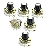 Nxtop 6mm knurled Shaft 12Pin 1 Pole 11-Position Selectable Band Rotary Switch 6 Pcs