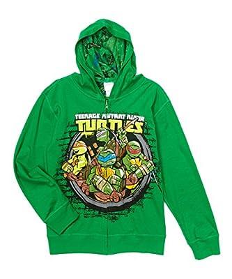 Nickelodeon Boys' Teenage Mutant Ninja Turtles Characters Hoodie