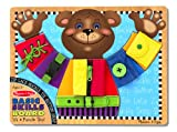 Image of Melissa & Doug Basic Skills Board and Puzzle - Wooden Educational Toy