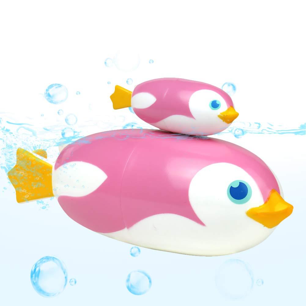 Rosa Akokie Pinguino Giocattoli da Bagnetto Accessori Bagno e Nuoto Regalo per Bambini Ragazzi Ragazze