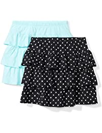 Girls' 2-Pack Knit Ruffle Scooter Skirts