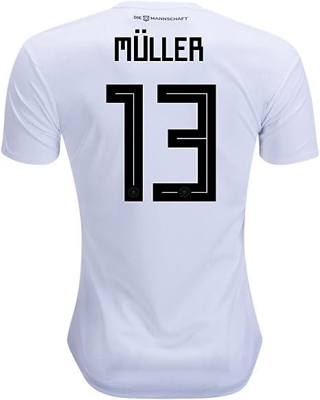 ivo Muller 13 Alemania Camiseta hombres del equipo nacional de fútbol de 2018 color blanco tamaño XL: Amazon.es: Deportes y aire libre