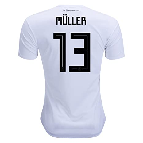 4ab4bf5200a Image Unavailable. Image not available for. Color  Muller 13 Germany  National soccer team home jersey ...