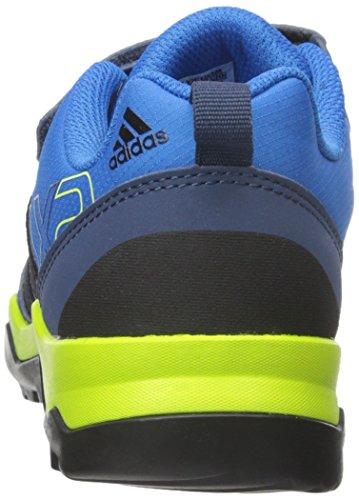 adidas Outdoor AX2 CF Hiking Shoe (Little Kid/Big Kid), Shock Blue/Black/Semi Solar Slime, 5.5 M US Big Kid