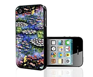 Monet Water Lillie's Art Hard Snap on Phone Case (iPhone 4/4s)